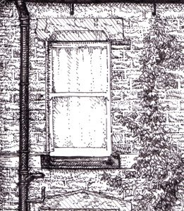 Grove Lane detail. Leeds, drawing by Simon Lewis