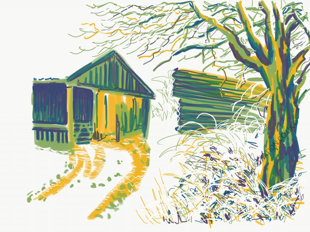 Grange farm, peak district digital sketch