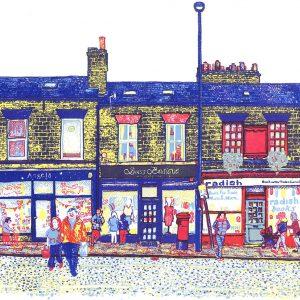 Harrogate Road - Chapel Allerton, Leeds screenprint by Simon Lewis