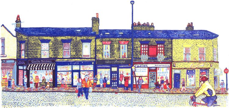 Harrogate Road - Chapel Allerton, Leeds screenprint by Simon Lewis
