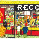 Jumbo Records, Leeds screenprint by Simon Lewis
