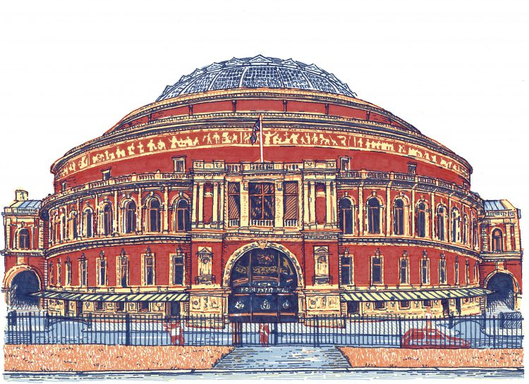 Royal Albert Hall, illustration by Simon Lewis