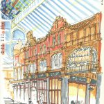 Victoria Quarter, sketch in Leeds by Simon Lewis