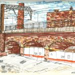 Arches, sketch in Leeds by Simon Lewis