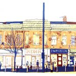Chapeltown Road, Leeds screenprint by Simon Lewis