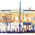 Chapeltown Road, Leeds screenprint by Simon Lewis