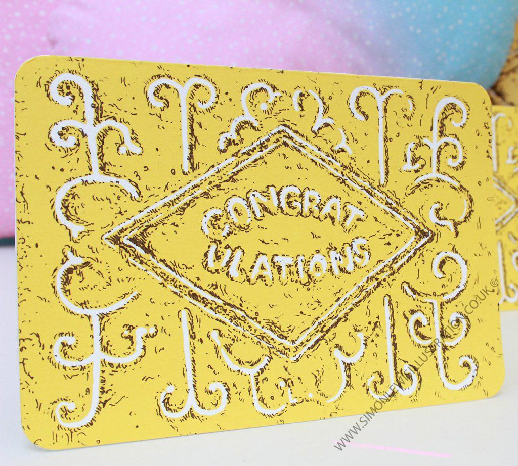 Custard Cream card, by Simon Lewis