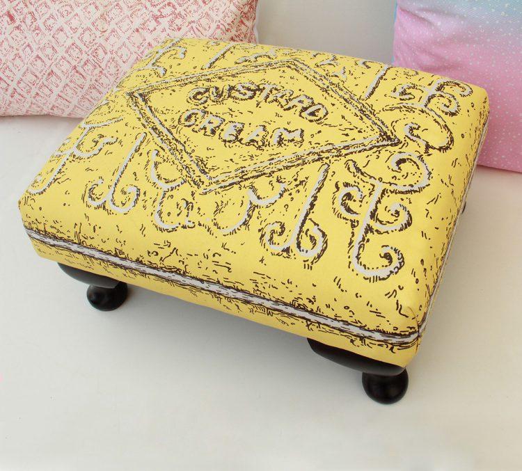 Custard Cream footstool, by Simon Lewis