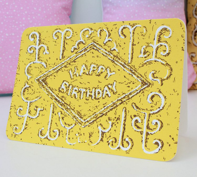 Custard Cream card, by Simon Lewis