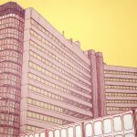Merrion House, Leeds screenprint by Simon Lewis