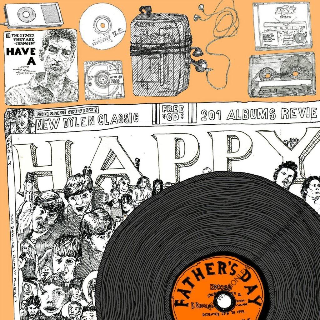 Music Birthday card by Simon Lewis