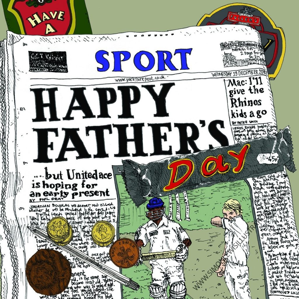 Fathers Day card by Simon Lewis