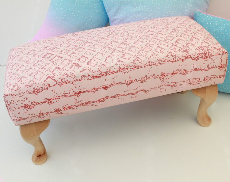 Pink Wafer footstool, by Simon Lewis