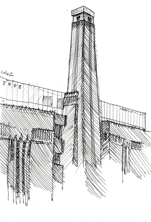 Tate Modern sketch by Simon Lewis