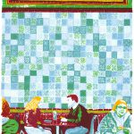 the Tiled Hall Cafe, Leeds, screenprint by Simon Lewis