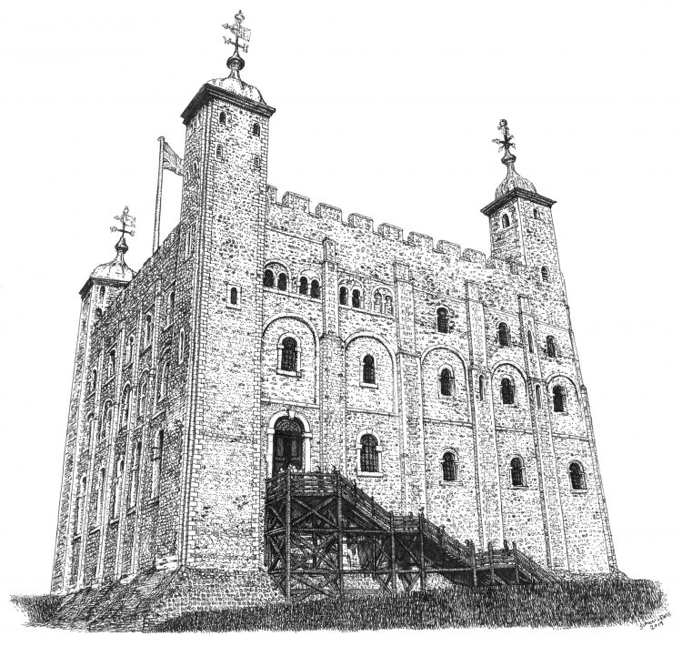 White Tower, the Tower-of London, by Simon Lewis